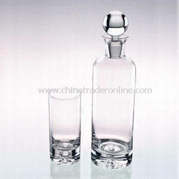 Wine Set with Bottle Capacity of 420mL and Glass Capacity of 8 Ounce