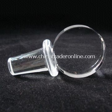 Wine Stopper, Made of Glass Material