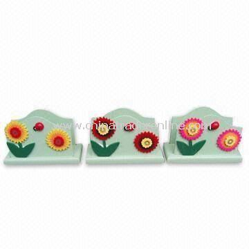 Wooden Tissue Holders in Various Cartoon Designs, Safety Printing
