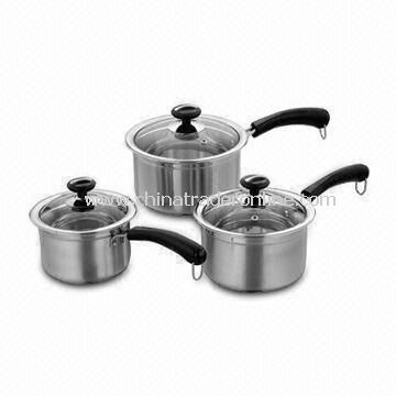 6-piece Stainless Steel Cookware Set, Different Designs are Available