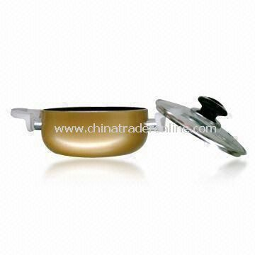 Aluminum Non-stick Casserole/Stock Pot with Optional Heat-resistant Glass Lid