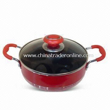 Aluminum Non-stick Casserole with Optional Heat-resistant Glass Lid