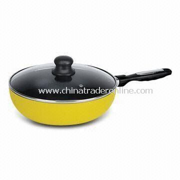 Aluminum Wok with 2.0 Body Thickness, Available in Various Handles and Sizes