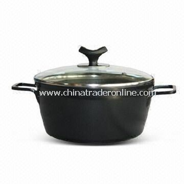 Casserole with Two Layers Non-stick Coating Inside, Made of Forged Aluminum