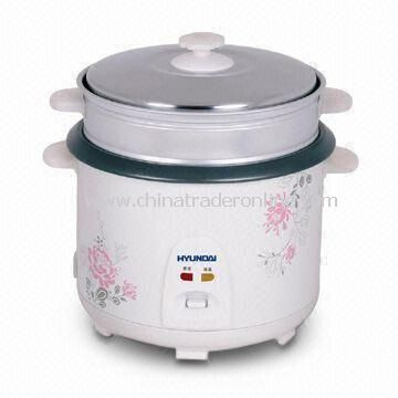 Cylinder Rice Cooker with Luxury Stainless Steel Steamer, 1.8L Capacity and Automatic Warning System