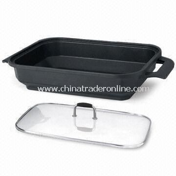 Diamond Style Square Casserole, Easy to Clean, LFGB and FDA Certified