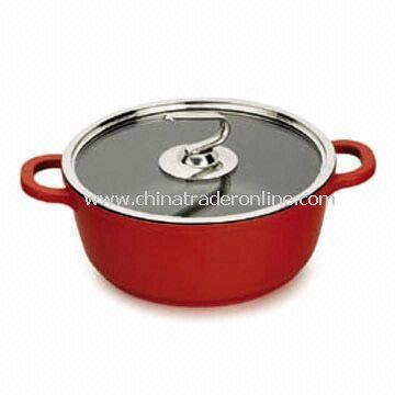Die-cast Aluminum Casserole Soup Pot, Available in Size of 20, 24 or 28cm
