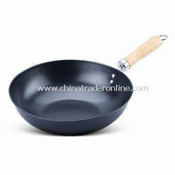 Non-stick Wok, Measures 28cm, Made of Carbon Steel