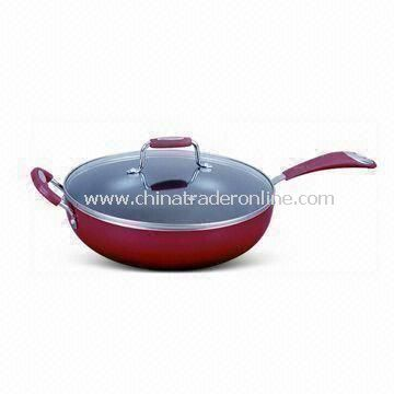 Non-stick Wok with 3.0mm Thickness, Made of Aluminum