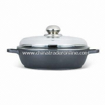 Nonstick Shallow Casserole Pot, Made of Aluminum Alloy, Available in Various Sizes