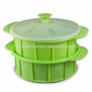 Silicone Multilayer Steamer, Measures 9-1/8 x 7-1/2 x 5 Inches from China