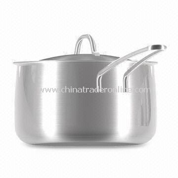 Stainless Steel Cookware Set with Trendy Belly Shape from China