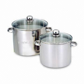 Stock Pot of Cookware Set with 202 Stainless Steel Material and 1.5mm Capsule Bottom
