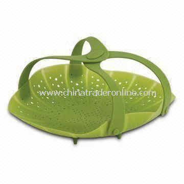 Vegetable Steamer, Made of High Quality Food-grade Silicone, with FDA and LFGB Certificates