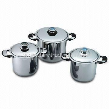 Wide Edge Stock Pot for Stainless Steel Cookware, with Stain or Mirror Polished Finishing