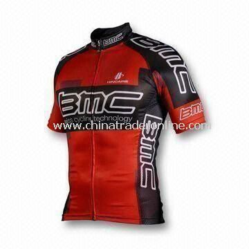 100% Polyester Mens Cycling Jersey with Sublimation Printing, OEM Orders are Welcome