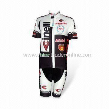 100% Polyester Mens Cycling Jersey with Sublimation Printing, OEM Orders Welcomed