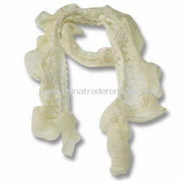 150 x 8cm Scarf/Shawl for Women, Made of Polyester Cotton