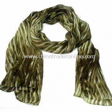 170 x 45cm Ladies Charm/Scarf/Shawl, Made of Polyester, OEM and ODM Orders are Welcome