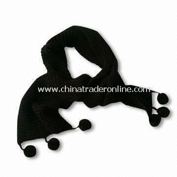 Black Stylish Acrylic Shawl, Weighs 190g, Available in Various Colors