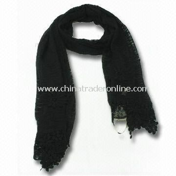 Charm/Scarf/Shawl for Ladies, Made of Polyester Cotton, OEM and ODM Orders are Welcome