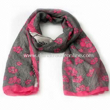 Charm/Scarf/Shawl for Women, Made of Polyester, Customized Designs are Accepted