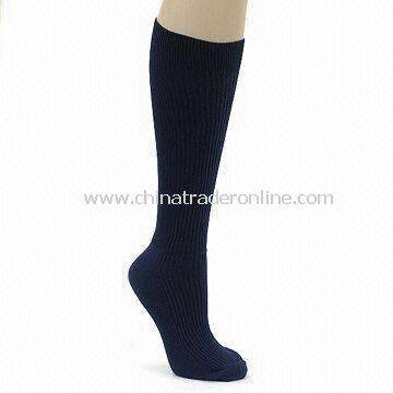 Compression Socks, Made of 65% Nylon and 35% Lycra