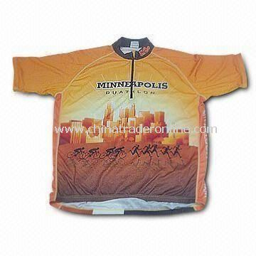 Cycling Jersey, Available in Various Colors and Sizes, Made of 100% Polyester