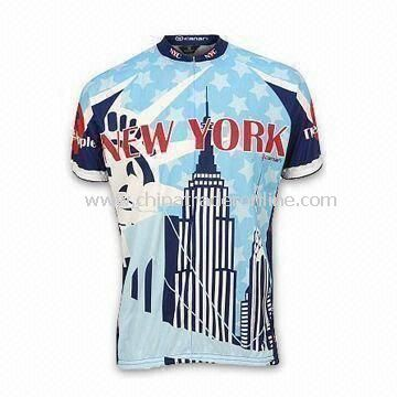 Cycling Jersey/Sports Top, Made of 100% Polyester Material, Available in Various Sizes and Colors