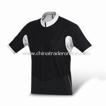 Cycling Jersey with Short Sleeves, Made of 100% Polyester, Anti-UV, Breathable and Nontoxic