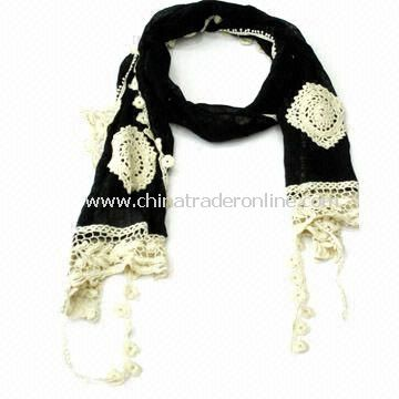 Fashionable Charm/Scarf/Shawl for Ladies, Measures 160 x 27cm, OEM and ODM Orders are Welcome