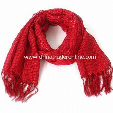 Fashionable Charm/Scarf/Shawl for Women, Made of Polyester Cotton