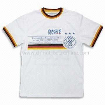 Jersey with Printing on Front Side, Made of 100% Polyester Mesh