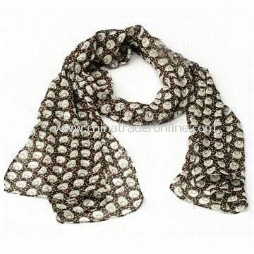 Ladies Fashionable Charm/Scarf/Shawl, Customized Materials and Sizes are Accepted