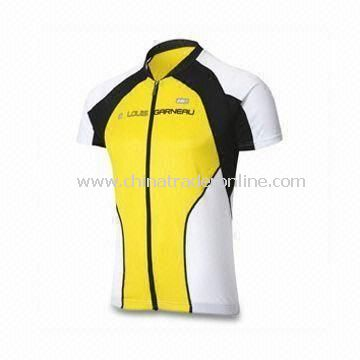 Mens Cycling Jersey, Made of 100% Polyester Material, OEM Orders are Welcome