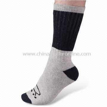 Mens Socks, 84N Single Needle Count, Crew Style, Made of Nylon, Weighs 96g
