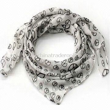 Polyester Scarf/Charm/Shawl, Suitable for Ladies, OEM and ODM Orders are Welcome