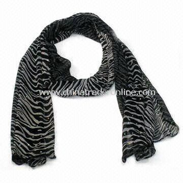 Scarf/Shawl, Made of Polyester, Measures 165 x 38cm, Suitable for Ladies