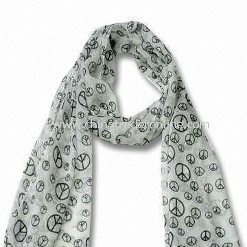 Scarf/Shawl, Made of Polyester, Various Colors are Available, ODM Orders are Welcome