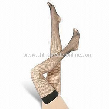 Womens Fishnet Stocking, Made of Nylon and Spandex, Weighs 28g