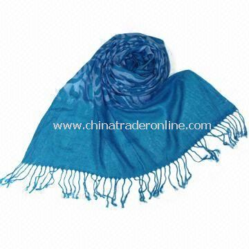 Womens Polyester Scarf in Various Colors, Customized Designs are Accepted, Can be Used as Shawl