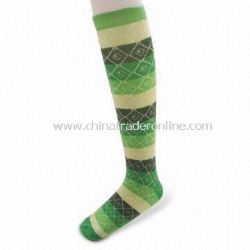 Womens Stocking Socks, Made of Cotton, Spandex, Elastic and Nylon