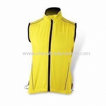 Yellow Cycling Jersey with Pantone Color, Various Sizes are Available