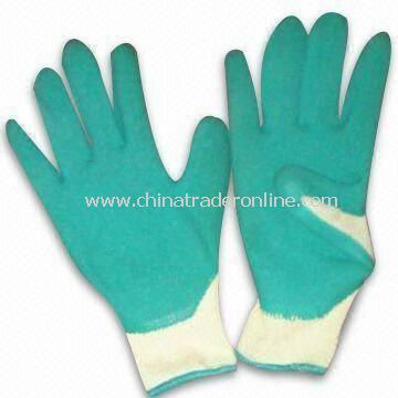 10gg Yarn Working Safety Gloves, Available in 22 to 23cm Sizes, Made of Cotton and Latex