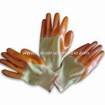 10gg Yarn Working Safety Gloves, Smooth, Available in 22 to 23cm Sizes, Made of Cotton/PVC Rubber