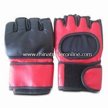 Boxing Gloves, Made of Microfiber Leather, with Sticky Buckle