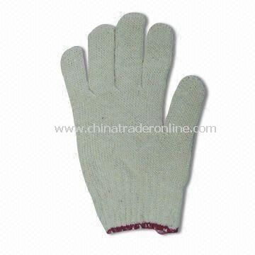 Cotton Working Glove with 10 Inches Length, Available in White