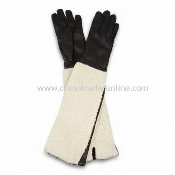 Ladies Gloves with/without Cotton Lining, Made of Real/PU Leather, Various Colors are Available