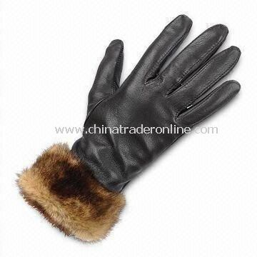 Ladys Gloves with Cotton Lining, Available in Various Colors, Made of Real/PU Leather