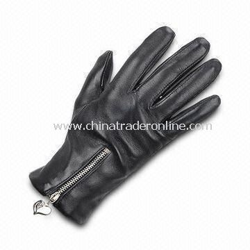 Ladys Gloves with Cotton Lining, Various Colors are Available, Made of Real/PU Leather
